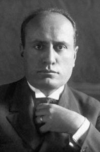 Italian Prime Minister Benito Mussolini